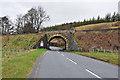 NN8065 : Railway bridge over the old A9 near Calvine by Steven Brown
