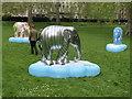 "TQ2879 : Painted elephant ""Karma"" in Green Park by David Hawgood"