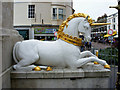 SY6779 : George III's unicorn, Weymouth by Brian Robert Marshall