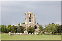 SP7006 : St Mary's church, Thame from the cricket field by Roger Davies