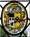 TG2705 : St Andrew's church - heraldic glass roundel by Evelyn Simak