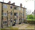 TQ1981 : Back of a mock-Tudor block of flats, Monks Drive by David Hawgood
