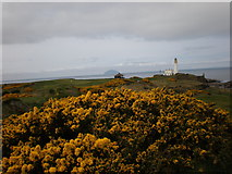 NS1907 : Lighthouse from Airforces Memorial on Turnberry golf course by Sarah McGuire