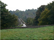 SJ2837 : The aqueduct and viaduct at Chirk by Eirian Evans