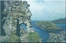 NG4074 : Duntulm Castle in 1967 by John Baker