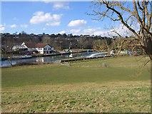 ST6866 : River Avon at Kelston Weir by Derek Harper