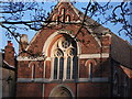 SP2872 : Detail of United Reformed Church, Abbey Hill, Kenilworth by John Brightley