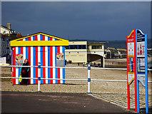 SY6879 : Beach snack bar on the beach, Weymouth by Brian Robert Marshall