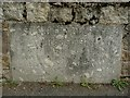 SX6494 : A plaque on Sticklepath Bridge on the river Taw by Roger A Smith