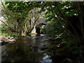 SX6494 : Sticklepath Bridge on the river Taw as seen from upstream by Roger A Smith