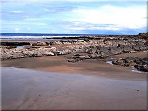 G4835 : Rocky outcrops on the beach at Kilrusheighter by Oliver Dixon