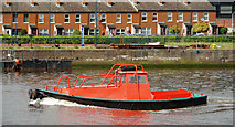 J3473 : Beaver boat, River Lagan, Belfast by Albert Bridge