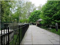 TQ3282 : Main Walkway, Bunhill Fields, London EC1 by Christine Matthews