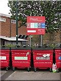 SJ9400 : Recycling bins, Wednesfield by Richard Webb