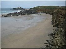SW5842 : Beach near Godrevy Point by Philip Halling