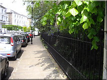 TQ2678 : Garden railings in The Boltons, London by PAUL FARMER