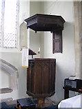 TM2769 : The Pulpit of St.Lawrence Church, Brundish by Adrian Cable