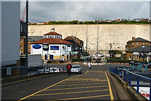 TQ3303 : Service Road in the Brighton Marina, Sussex by Peter Trimming