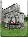 TF7401 : St John's church in Oxborough - war memorial by Evelyn Simak