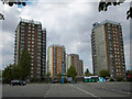 TA2710 : High Rise Flats, East Marsh, Grimsby by David Wright