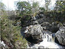 NH4891 : Falls on the River Carron by sylvia duckworth