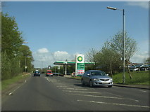 NS5036 : Filling station on the A71 near Galston by Andrew Abbott