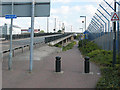 TQ4180 : Connaught Bridge: cycle bypass by Stephen Craven