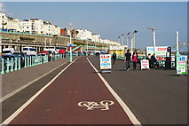 TQ3103 : Cycle Lane at Brighton, Sussex by Peter Trimming