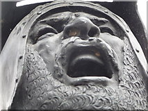 SJ0743 : Detail - Owain Glyndwr statue, Corwen by Jeremy Bolwell
