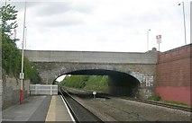 SE3634 : Bridge HUL4-23 - viewed from Platform 2 - Cross Gates Station by Betty Longbottom