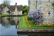 TQ4745 : The Moat at Hever Castle, Kent by Peter Trimming