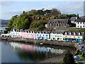 NG4843 : The Portree harbour cottages by John Lucas