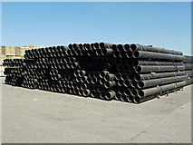 TA0623 : Pipe Stack at Old Ferry Wharf, Barrow Haven by David Wright