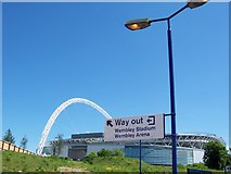 TQ1885 : Which Way to Wembley Stadium? by Terry Robinson