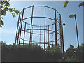 TQ3579 : Redundant gas holder frame, Rotherhithe by Stephen Craven