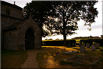 TG0934 : Entrance to St Peter and St Paul Church, Edgefield, Norfolk by Christine Matthews