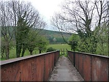 SH9234 : Footbridge, Bala Station by Christine Johnstone