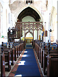 TM1273 : St Mary's church in Yaxley - view east by Evelyn Simak