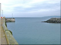 NX3343 : Harbour entrance, Port William by Ann Cook