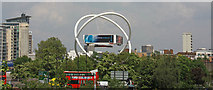 TQ2575 : View from Wandsworth Town Station by John Salmon