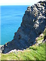 SW7252 : Cliff east of Trevellas Porth by Rod Allday
