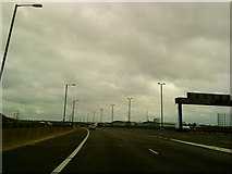 SP0990 : Joining the M6 from the Gravelly Hill interchange by Andrew Abbott