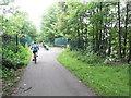 SJ4287 : Trans Pennine Trail - Bridge over Belle Vale Road by Anthony Parkes