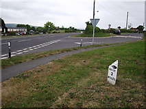 NZ9208 : Old Mile Post by Keith Evans