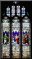 TF7319 : The church of St Nicholas in Gayton - east window by Evelyn Simak