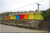 TA0390 : Colourful Beach Huts, North Bay Promenade by N Chadwick