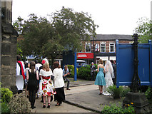 SJ8588 : St Mary's Church, Cheadle, after a wedding by Robin Stott