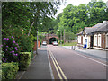 SJ8588 : Railway bridge, Brook Road, Cheadle by Robin Stott