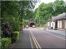 SJ8588 : Railway bridge, Brook Road, Cheadle by Robin Stott