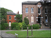 SJ8588 : Cheadle Literary Institution by Manchester Road by Robin Stott
